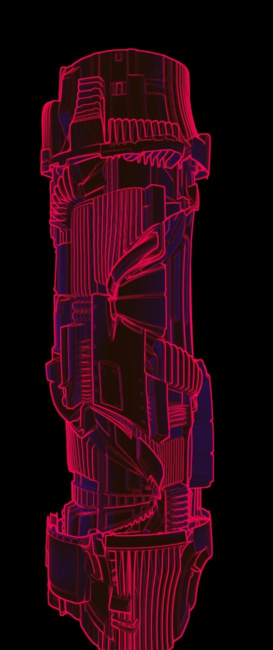 lightsabre endge rendered high detail