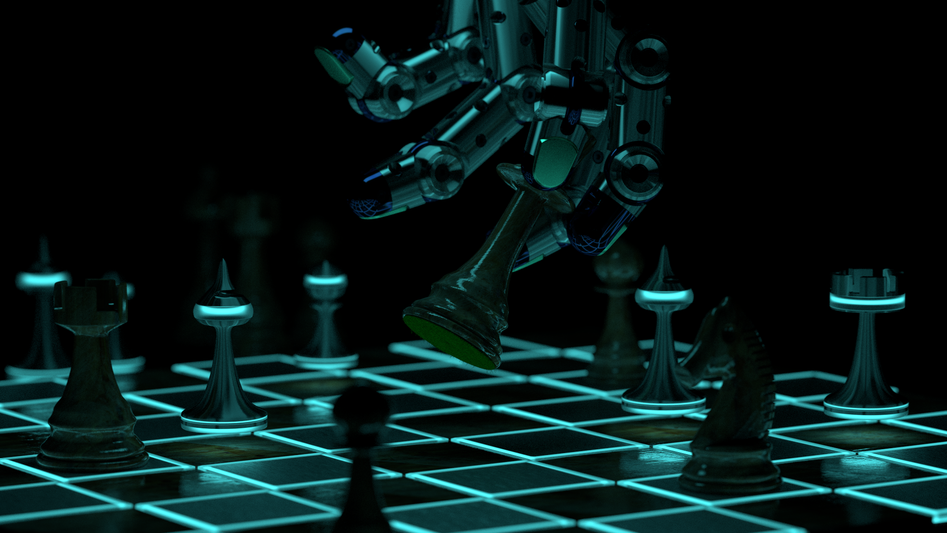 chess scene render 05