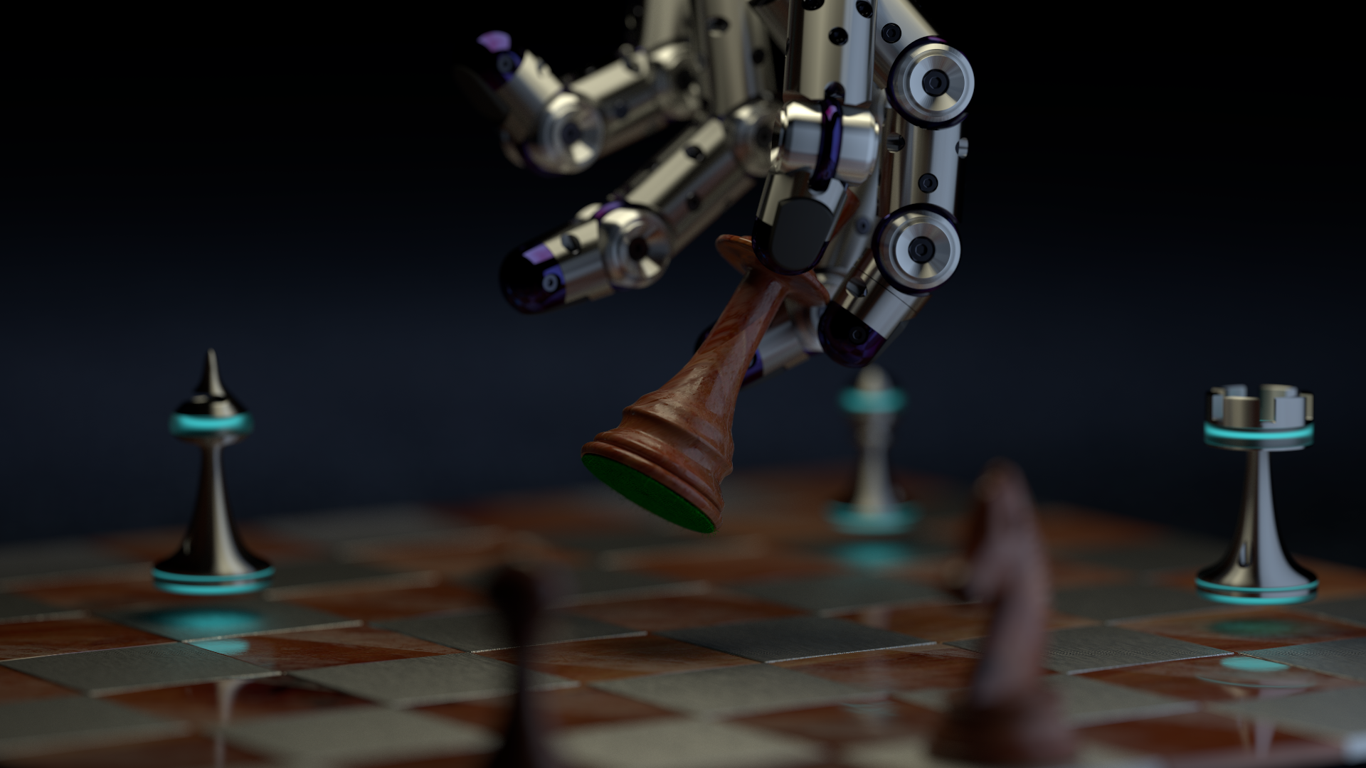 chess scene render 08 HD