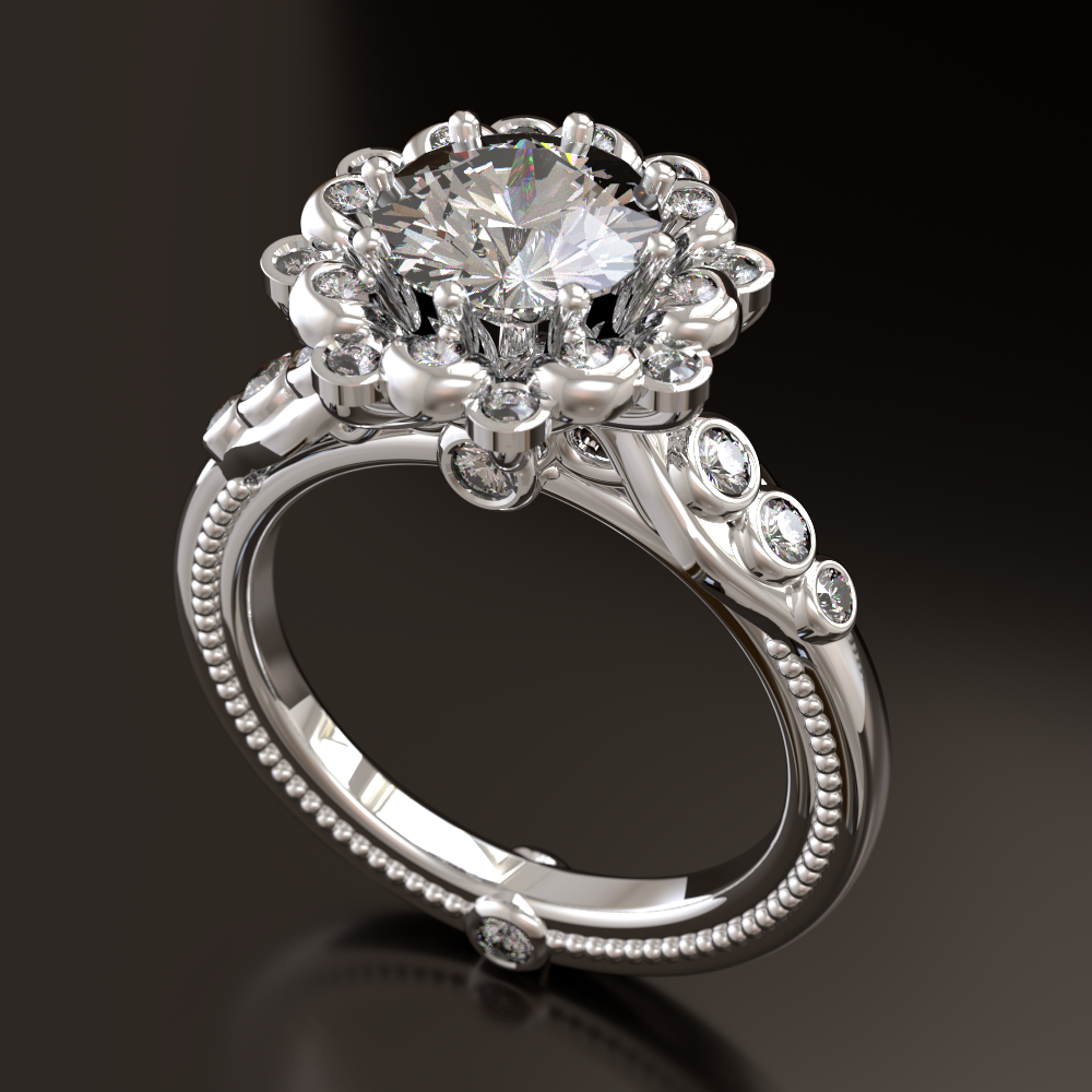 Tyler Treadway - diamonds and white gold ring